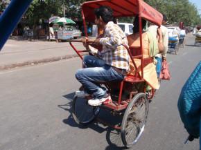 вело рикша в действие