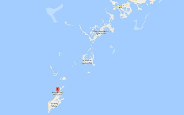 Карта на Палау